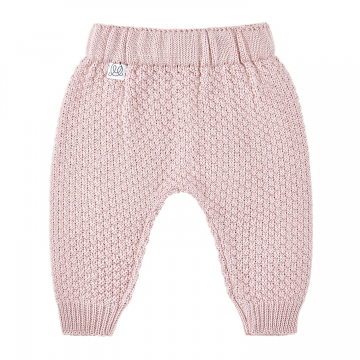 Knitted bamboo pants Dusty pink