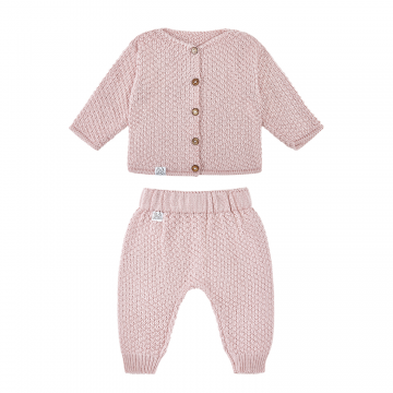 Knitted bamboo set Dusty pink