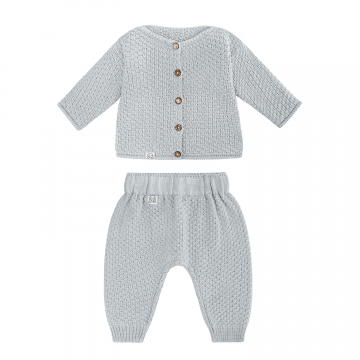 Knitted bamboo set Grey