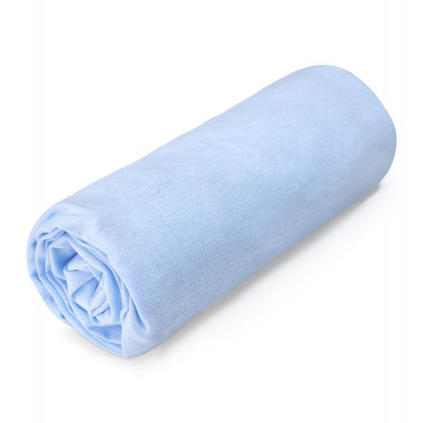 Cotton jersey bed sheet 140x200 Light blue