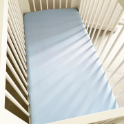 Cotton jersey bed sheet 80x160 - Light blue