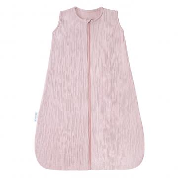 Cotton muslin sleeping bag Blush pink