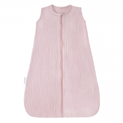 Summer muslin sleeping bag - dusty pink