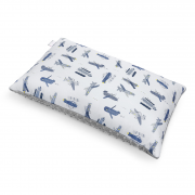 Fluffy bamboo pillow - Happy planes - silver