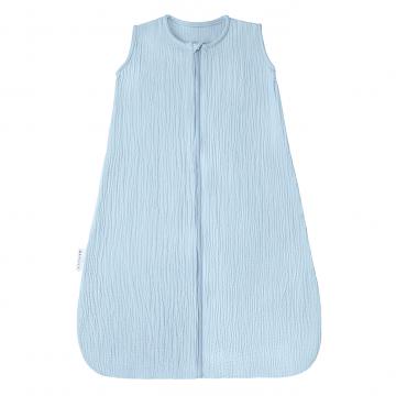 Cotton muslin sleeping bag Light blue