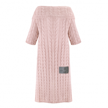 Sleeved bamboo blanket Blush pink