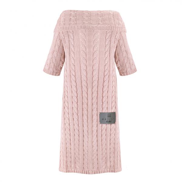 Sleeved bamboo blanket Blush pink