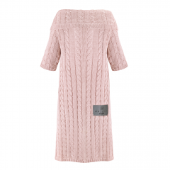 Bamboo sleeved blanket - dusty pink
