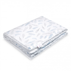 Warm bamboo blanket Luxe Heavenly feathers - White
