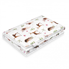 Warm bamboo blanket Luxe Fawns - White