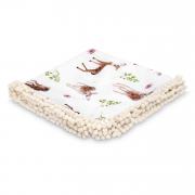 Summer pompom bamboo blanket - Fawns
