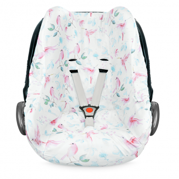 Bamboo car seat cover Paradise birds