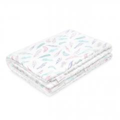 Warm bamboo blanket Luxe XL Paradise birds - White