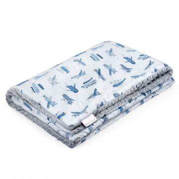Warm bamboo blanket XL Planes Silver