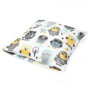 Bamboo cushion cover - Grey owls