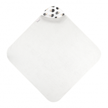 Bamboo baby towel Hedgehogs boys Cream white
