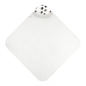 Bamboo baby towel Hedgehogs boys Cream white