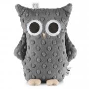 Cuddly owl Lili - graphite