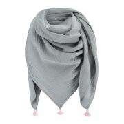 Muslin scarf - grey-dusty pink