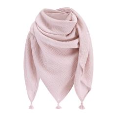 Muslin swaddle scarf - dusty pink