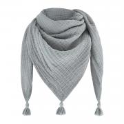 Muslin triangle scarf - grey