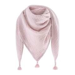 Muslin triangle scarf - dusty pink