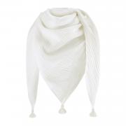 Muslin triangle scarf - cream