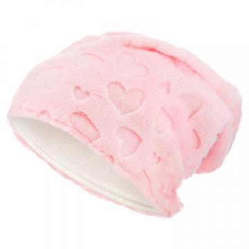 Różowa czapka zimowa dla dzieci