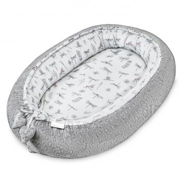 Premium Baby nest Hedgehogs girls Silver