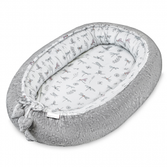 Bamboo baby nest - Dragonflies - silver