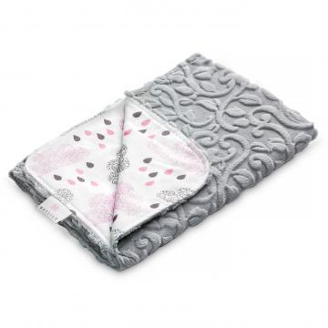 Luxe light blanket Blush rain Grey