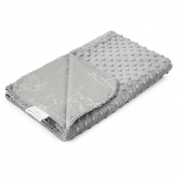 Light bamboo blanket Swallows Silver