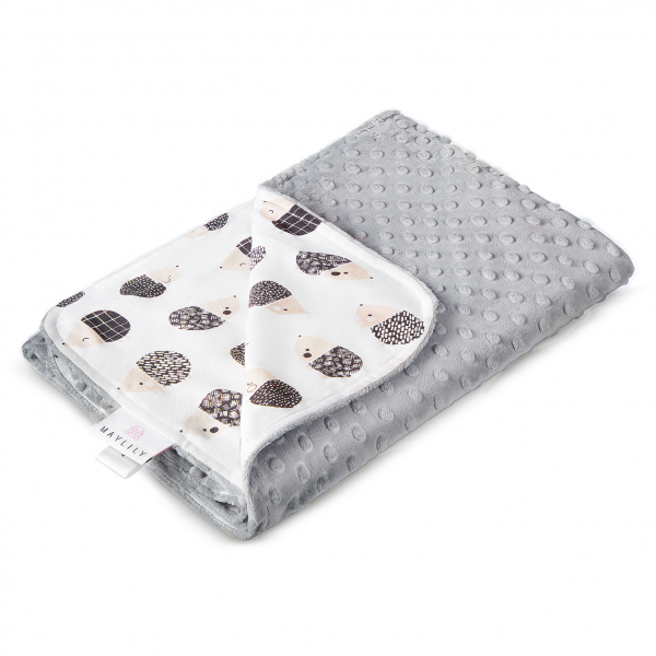Light bamboo blanket Hedgehogs boys Silver