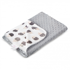 Light bamboo blanket Hedgehogs boys - Silver