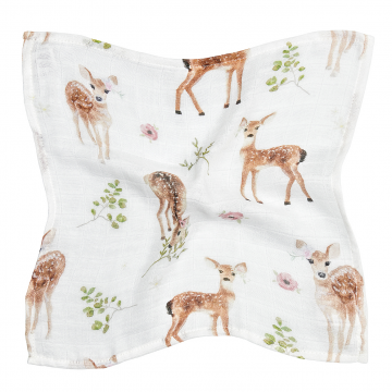 Bamboo muslin mini square Fawns