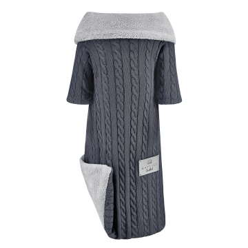 Sleeved bamboo blanket winter Graphite