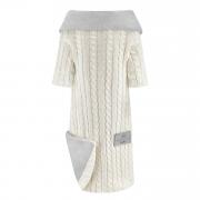 Bamboo sleeved blanket Winter - cream