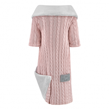 Sleeved bamboo blanket winter Blush pink
