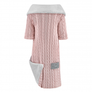 Bamboo sleeved blanket Winter - dusty pink