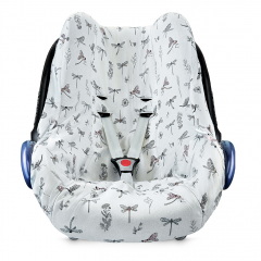 Bamboo car seat cover - Dragonflies