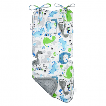 Bamboo stroller pad Dragons blue