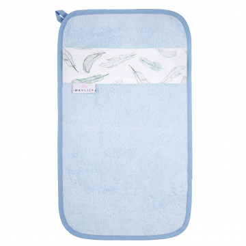 Bamboo hand towel Heavenly feathers Blue