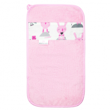 Bamboo hand towel Bunnies Pink