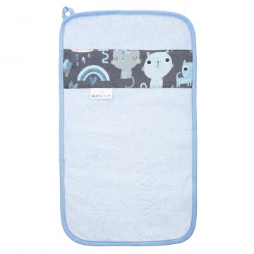 Bamboo hand towel Indiana cat Blue