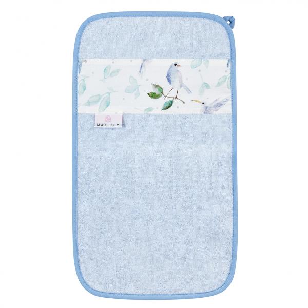 Bamboo hand towel Heavenly birds Blue