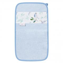 Bamboo hand towel Heavenly birds - Light blue