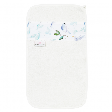 Bamboo hand towel Heavenly birds Blue