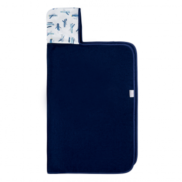 Bamboo hooded towel Planes Navy