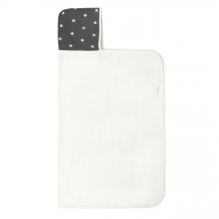 Bamboo hooded towel - Stars - cream