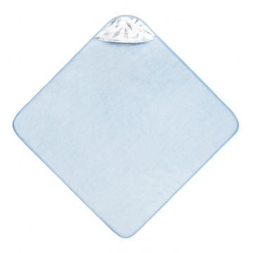 Bamboo baby towel Heavenly feathers Blue